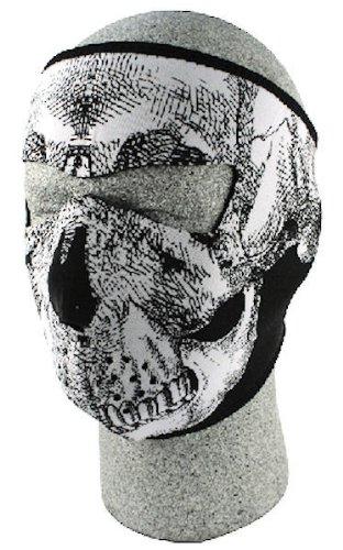 ZANheadgear Neoprene Skull Face Mask (Black/White)