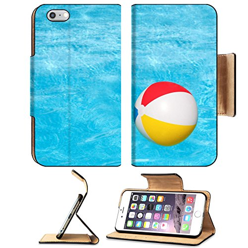 Flip Pu Leather Wallet Case Apple iPhone 6 Plus iPhone 6S Plus MSD Premium Inflatable colorful ball floating in the swimming pool IMAGE 30213623
