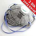 Staubmaske 3St�ck FFP2 EN149 Ventil A...