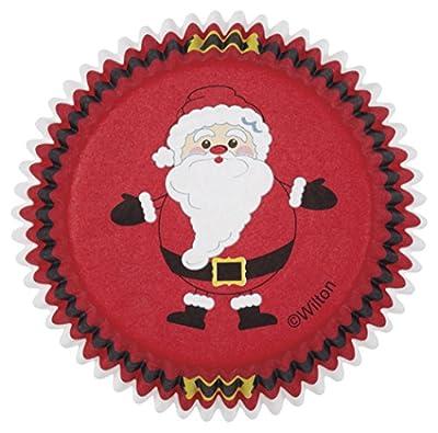 Wilton 415-2662 Christmas Secret Santa Cupcake Combo Baking Cups and Picks