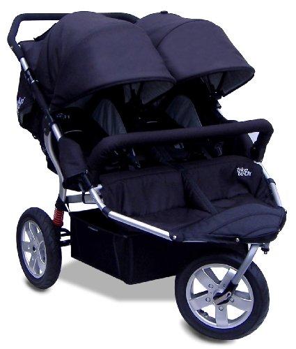 Tike Tech Double City X3 Swivel Stroller, Classic Black