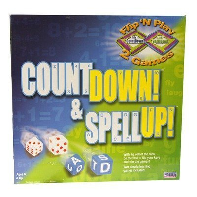 Countdown and Spell Up by Cadaco (English Manual)