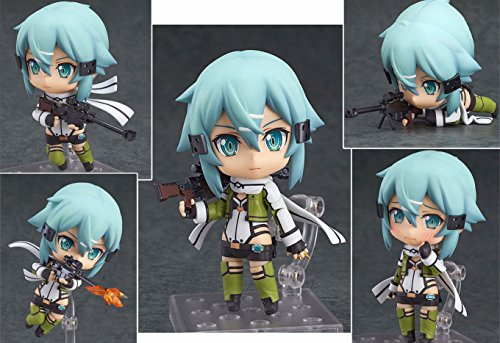 [Sinon Nendoroid Action Figures Sword Art Online II Size 4 inches Changeable Head and Arm with Stand] (Megaman Halloween Costume)
