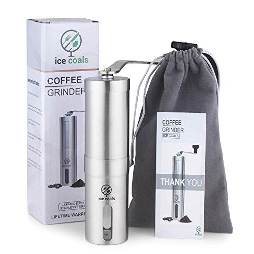 Best Price CYBER WEEK SALE! Manual coffee grinder - portable coffee bean grinder with adjustable cer...