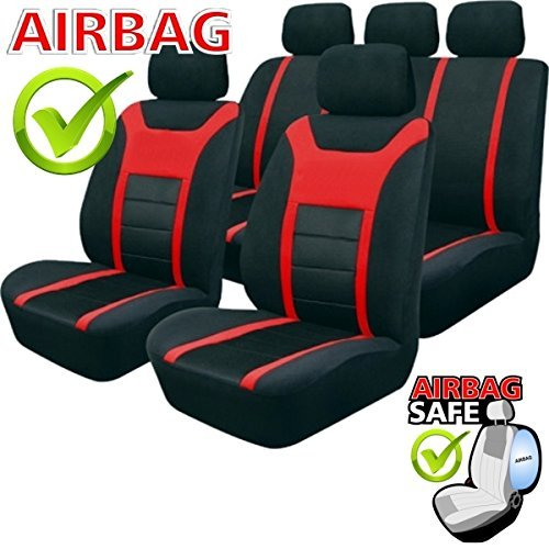 akhan sb202 de qualit si ge auto avec airbag lat ral noir. Black Bedroom Furniture Sets. Home Design Ideas