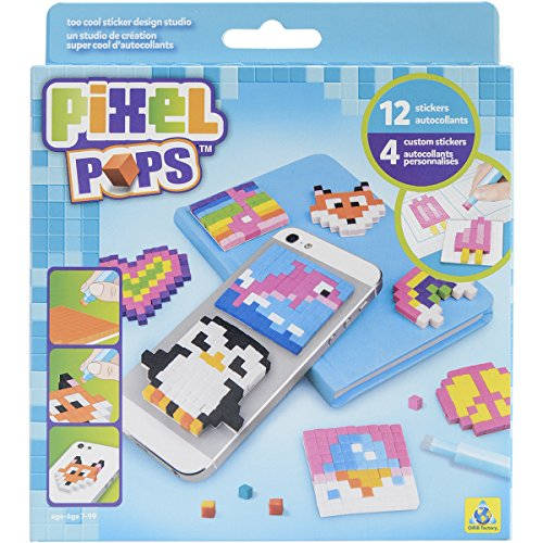 The Orb Factory Pixel Pops Too Cool Sticker Design Studio Kit