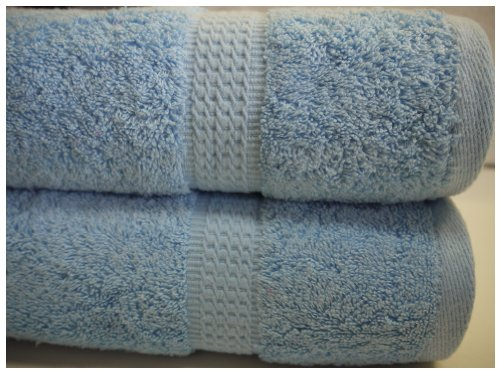 Aqua Egyptian Cotton Bath Sheet 600gsm Luxury Large Jumbo Thick Bathroom Towels Striped Super Soft Combed Highly Absorbent High Quality Towels 90 x 140 Cm