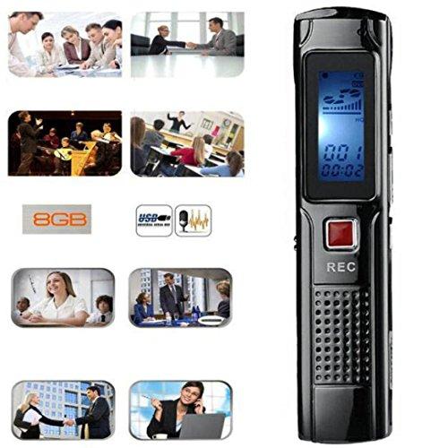 Hansee Mini registratore vocale, 8GB Stereo Registrazione digitale lettore mp3, registratore Audio, 8Ore