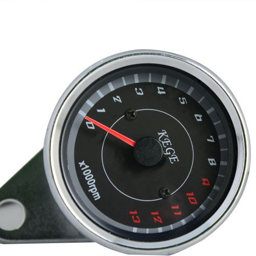 Thg Universal Motorcycle 13000 Rpm Japanese British European Dual Led Circle Scooter Analog Tachometer Gauge Night Light For All Years