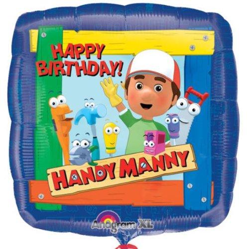 Imagen de Papel de aluminio de 18 pulgadas Handy Manny cumpleaños globo