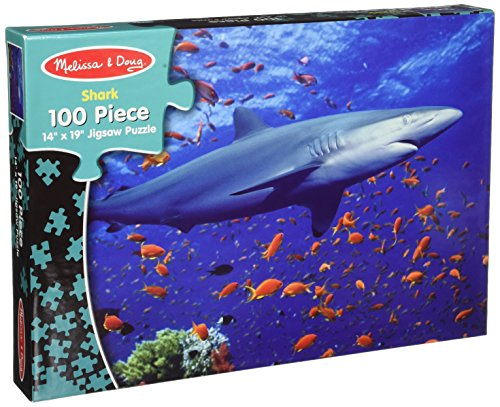 Melissa & Doug Shark Jigsaw Puzzle, 100-Piece - 1