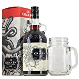 Kraken Spiced Rum 70cl Gift Boxed with Branded Mason Jar