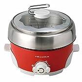 電気鍋 コンパクト万能鍋 電気なべ 電気フライヤー 蒸し器 グリル鍋 フライヤー 卓上 鍋 燻製 レッド