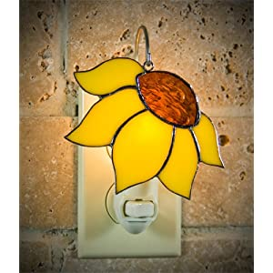 Sunflower Stained Glass Night Light