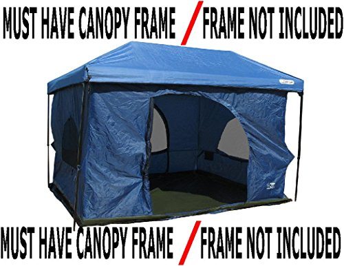 Standing-Room-100-Family-Cabin-Camping-Tent-With-85-feet-of-Head-Room-2-Big-Screen-Doors-4-Big-Screen-Doors-with-Grey-XL-Fast-Easy-Set-Up-Cabin-Tent-Family-Tent-Large-Tent-Big-Tent-Canopy-Frame-Not-In