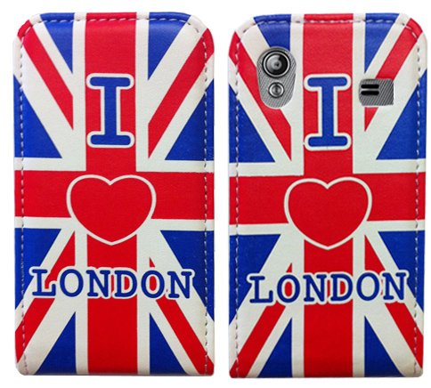 Union Jack Design Flip Ledertasche