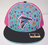 Size 8 NFL Multi-colored Atlanta Falcons UFO Alien Flat Bill Fitted Cap
