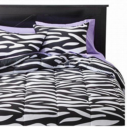 Xhilaration Full Queen Zebra Stripe Comforter Set With Shams Reversible front-501095