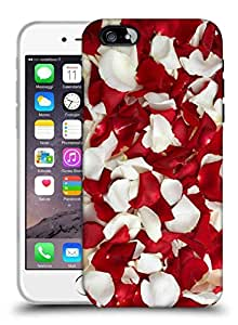 Snoogg White And Red Petals Designer Protective Back Case Cover For IPHONE 6