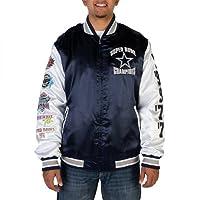 Dallas Cowboys Men's Commemorative Satin Varsity Jacket by Dallas Cowboys