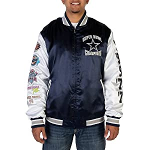 Dallas Cowboys Men's Commemorative Satin Varsity Jacket by Dallas Cowboys
