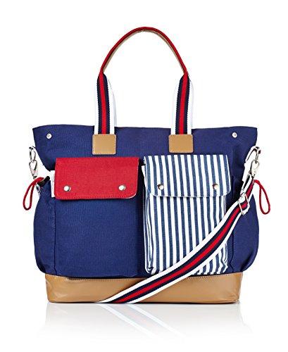 Roundhause Supplies Doting Mum's 10 Pocket Premium Diaper Bag, Baby's Organiser Weekender Baby Bag Tote