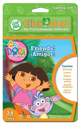LeapFrog ClickStart Educational Software Dora the Explorer Friends Â¡Amigos! - 1