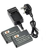 DSTE® 2pcs SLB-10A Replacement Li-ion Battery + Charger DC23U for Samsung P800, P1000, PL50, PL51, PL55, PL60, PL65, PL70, SL102, SL202, SL310, SL420, SL502, SL620, SL720, SL820, TL9, WB150F, WB250F, WB350F, WB500, WB550, WB750, WB800F, WB850F, WB1100F,