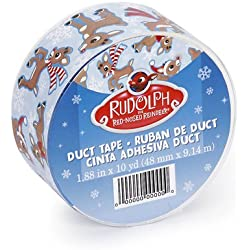 DARICE JFL2524 Rudolph Duct Tape 1.88 in X 10 yds (48 mm x 9.114 m)