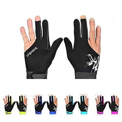Boodun 2016 Lycra 3-Fingers Billiards Gloves Pro Elastic Cue Billiard Pool Shooters Snooker Gloves Bowling Gloves