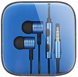 Adiva Metal Piston Earphones For Redmi Mi Note 4g Stereo Earphone Wired Headphones (BLUE)