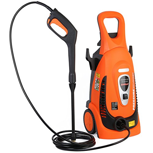 Best Review Of Ivation Electric Pressure Washer 2200 PSI 1.8 GPM with Power Hose Nozzle Gun and Turb...