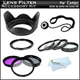 67mm Lens Filter Kit For Canon SX40 HS SX50 HS, SX60HS, SX60 HS Digital Camera Includes Filter Adapter (Replaces FA-DC67A) + 67MM Close Up Lens Kit Includes +1 +2 +4 +10 + 67mm 3pc Filter Kit + More