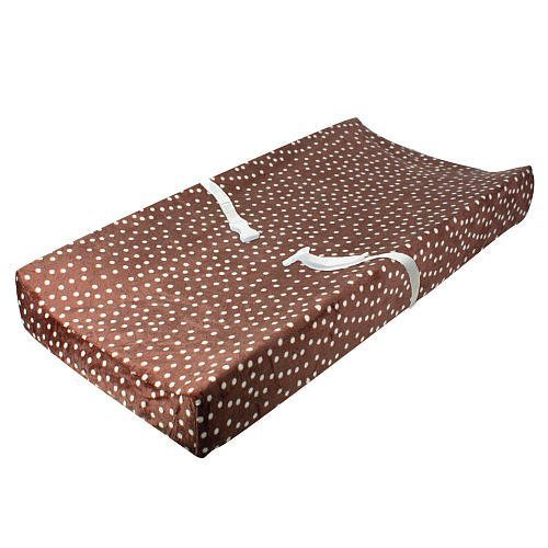 Babies'R'Us Plush Changing Pad Cover - Brown Dots - 1