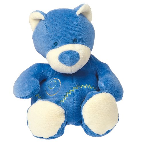 Mary Meyer Earthmates 100-Percent Organic, Little Sprouts Bear Cub, Blue, 7-Inches front-973871