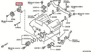 amazon com  infiniti genuine water pump cooling thermostat