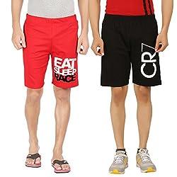 Hotfits combo graphic cotton shorts