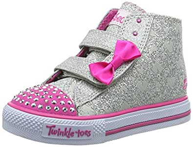 skechers kids shuffles sprinkle steps light up sneaker toddler little kid shoes. Black Bedroom Furniture Sets. Home Design Ideas