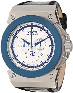 Invicta Men's 10956 Akula Reserve Chronograph Silver Textured Dial Watch