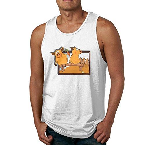 Piggy Garden Pillowy Sleeveless T Shirts 80s T Shirts Tees For Men's