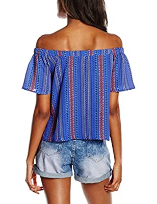 New Look Women's Alfa Bardot Short Sleeve Top