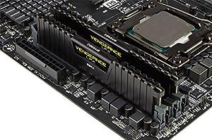 CORSAIR Vengeance LPX 64GB (2 x 32GB) DDR4 2666 (PC4-21300) C16 1.2V Desktop Memory - Black (Color: Black, Tamaño: 64 Gb)
