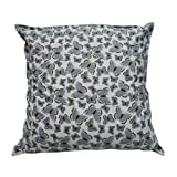 Decorative Designer White Large Traditional Cushion Cover Butterfly Print Home Décor Handmade Pillow Case India 24