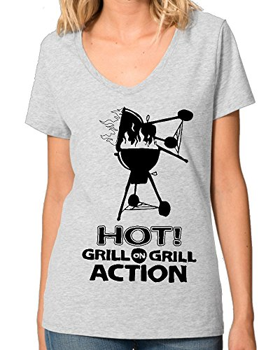 grill-action-barbeque-bbq-design-funny-womens-v-neck-t-shirt-xx-large