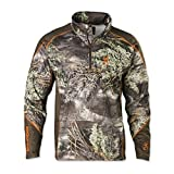 Browning Hell'S Canyon Midweight Base Layer 1/4 Zip Top, Color: Realtree Max 1 (