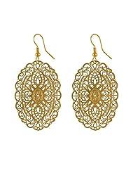 Sarah Gold Metal Dangle & Drop Earring For Women