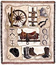 Western Horse Gear quotSaddle Upquot Tapestry Throw 50quot x 60quot