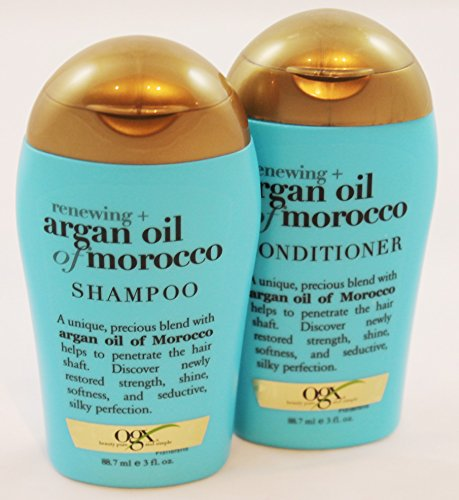 OGX Organix Renewing Argan Oil of Morocco Shampoo and Conditioner Travel Set 3 ounce (Morocco Shampoo And Conditioner compare prices)