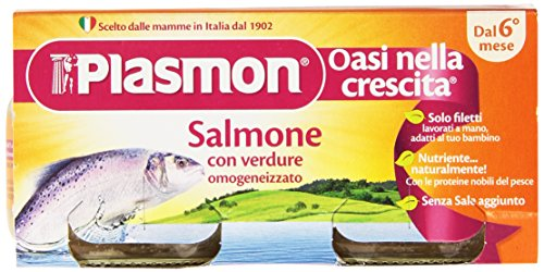 Plasmon - Oasi nella crescita, Omogeneizzato con Salmone e Verdure, dal 6 mese - 160 g