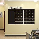 Vovotrade®Régime Mois 60x92 Calendrier Chalkboard MEMO Blackboard Wall Sticker vinyle...